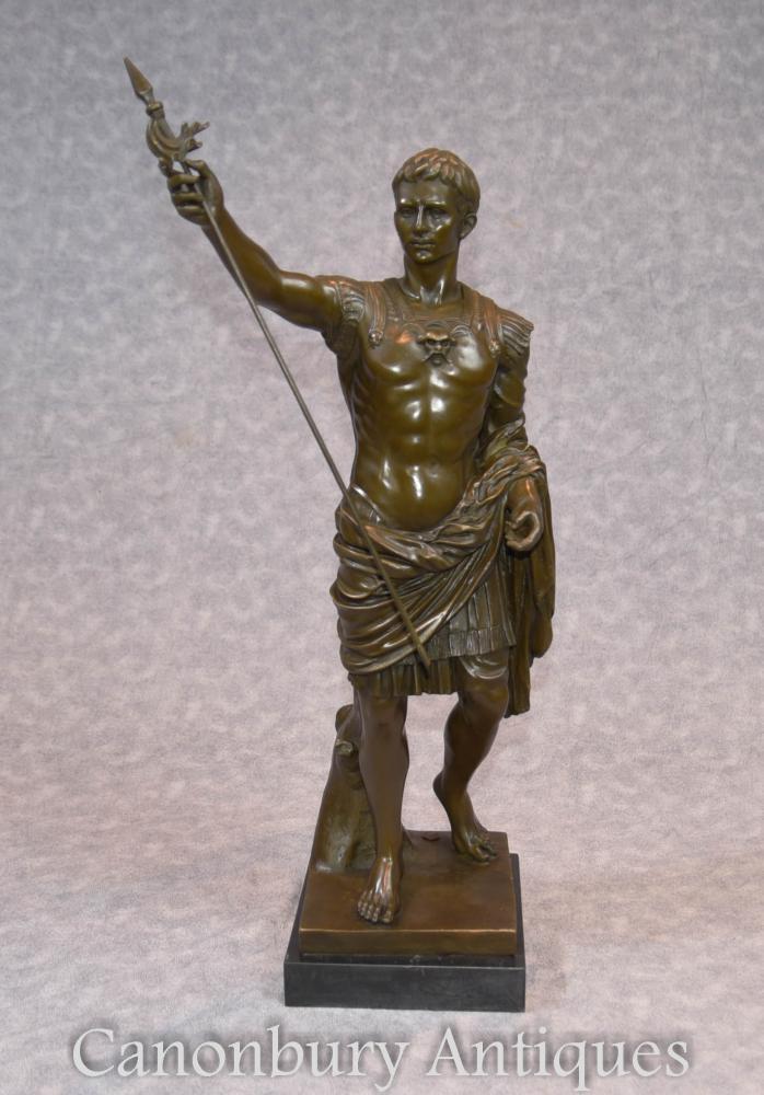 Italienische Bronze Statue Römischer Kaiser Julius Cäsar