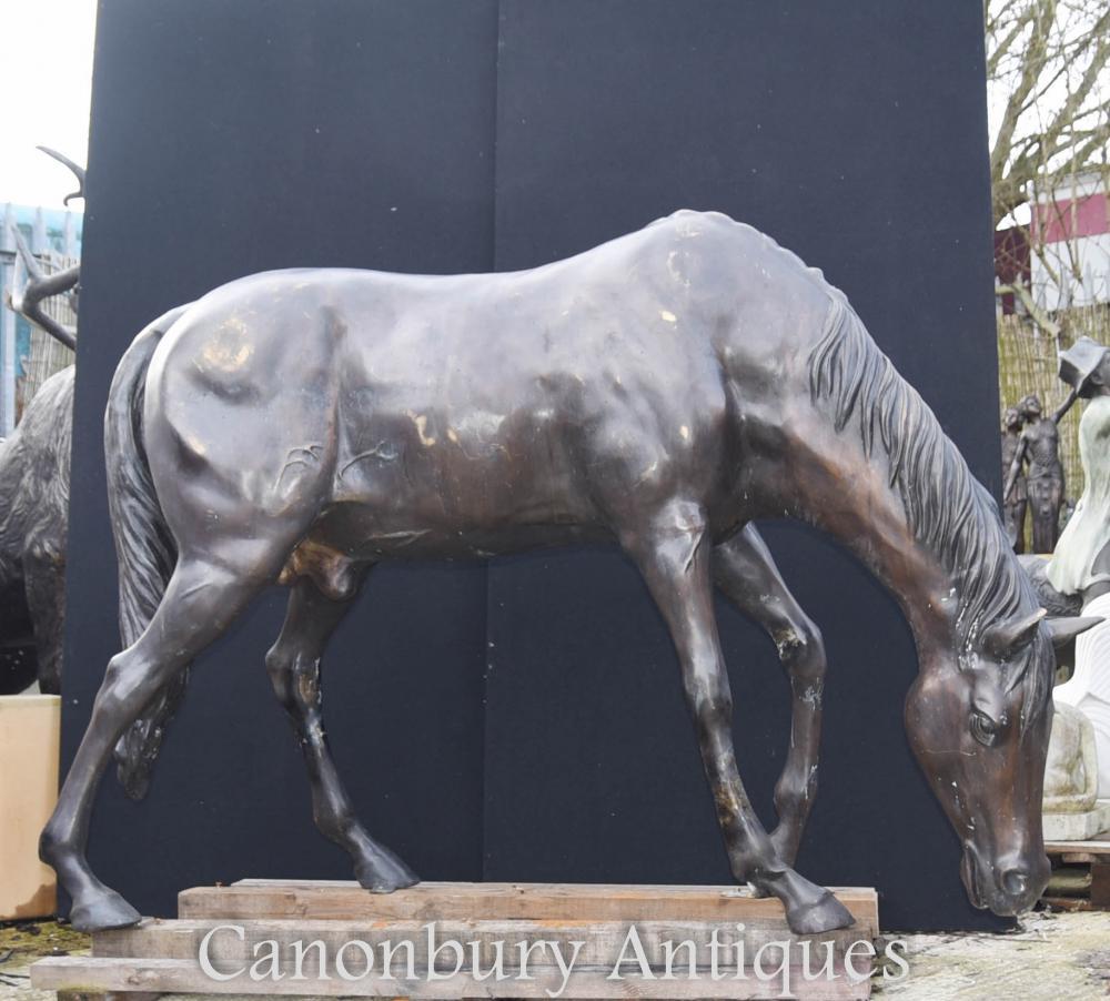 Leben Größe Bronze Pferd Statue Skulptur Architektonisches Tier Casting