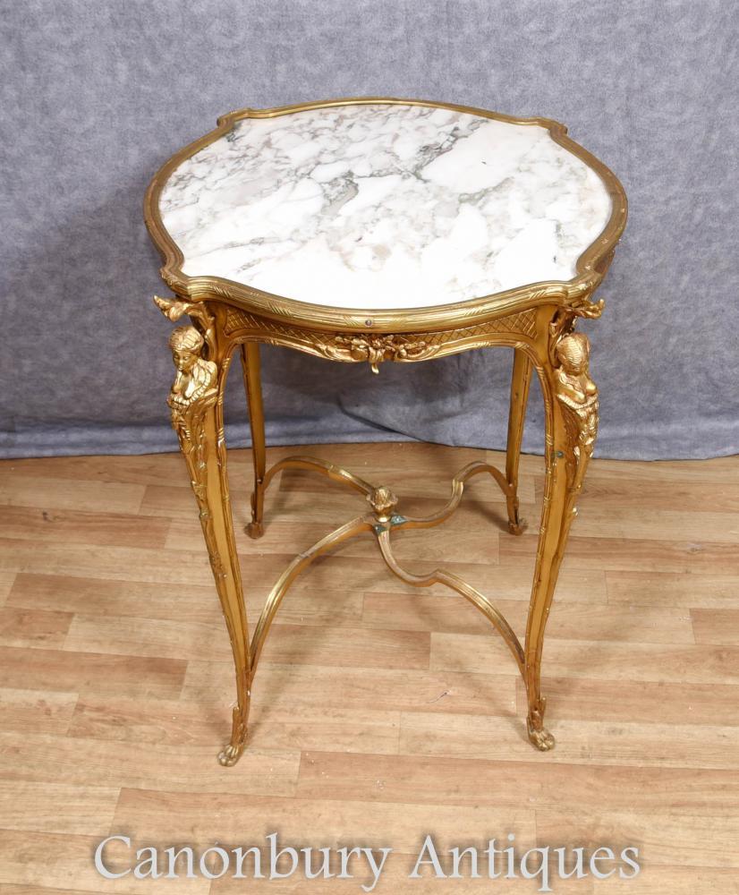 Single Louis XVI Beistelltisch Ormolu Maiden Tische