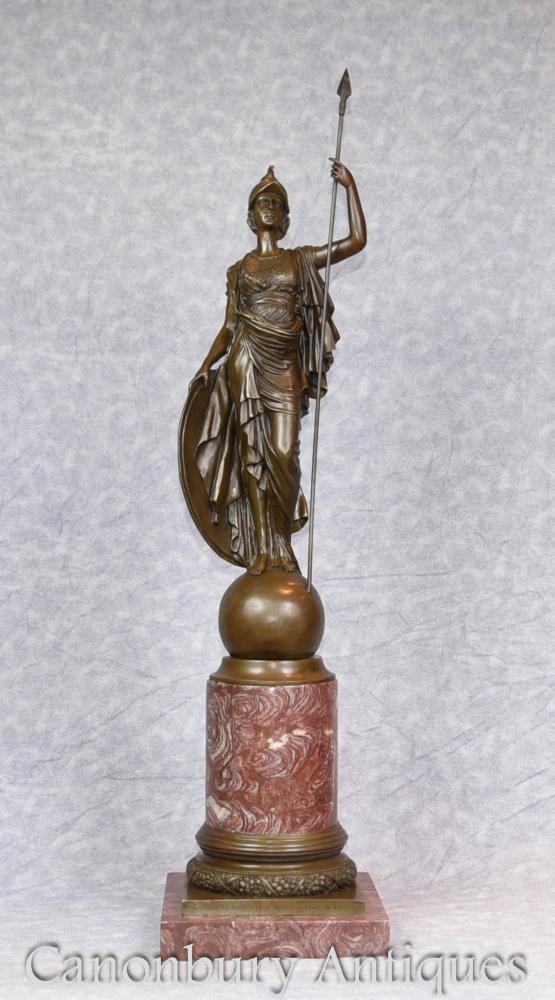 Große Bronze Statue Britannia Roman Briten Casting Figur