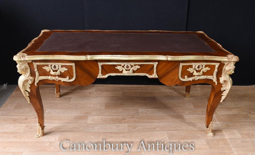 Großes Französisch Empire Bureau Plat Schreibtisch Schreibtisch