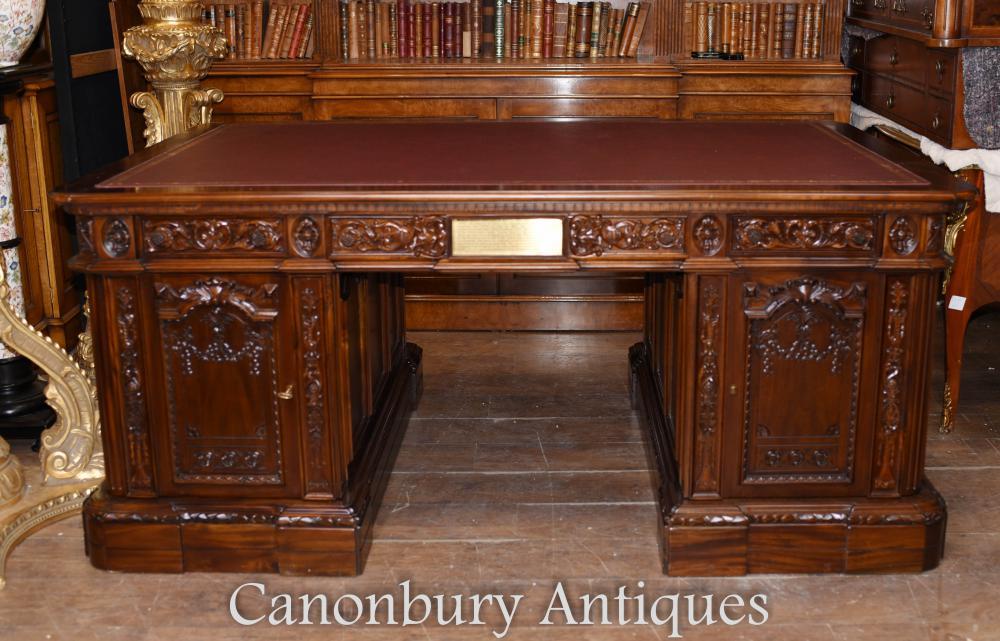 American Presidents Mahagoni Schreibtisch Schreibtisch Schreibtisch Weißes Haus