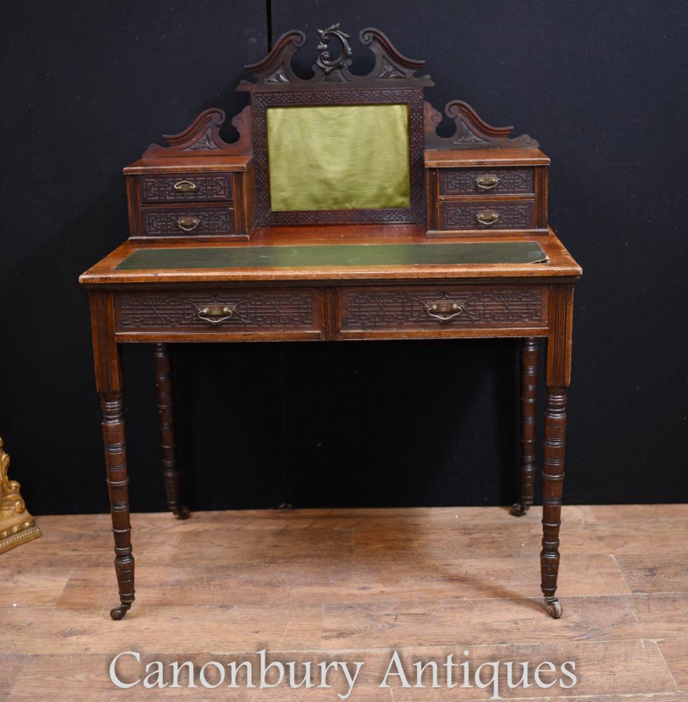 Antike französische Damen Schreibtisch Büro Plat Circa 1890