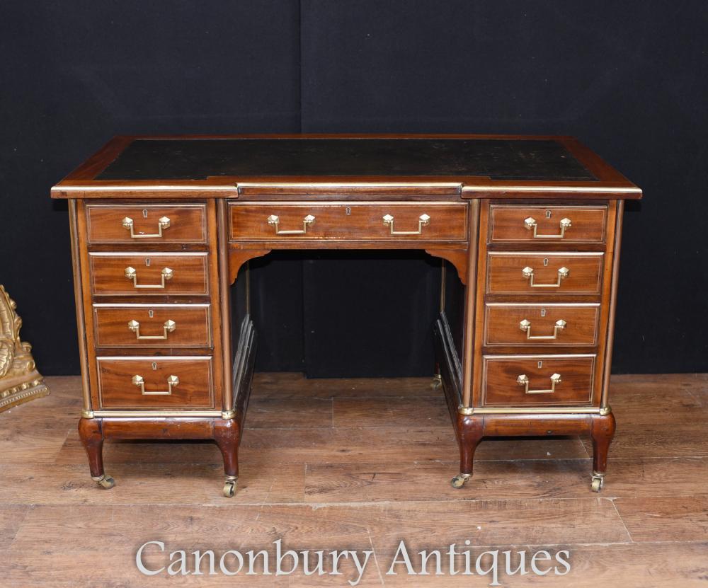 Antikes Französisches Reich Knie Schreibtisch Schreibtisch 1890