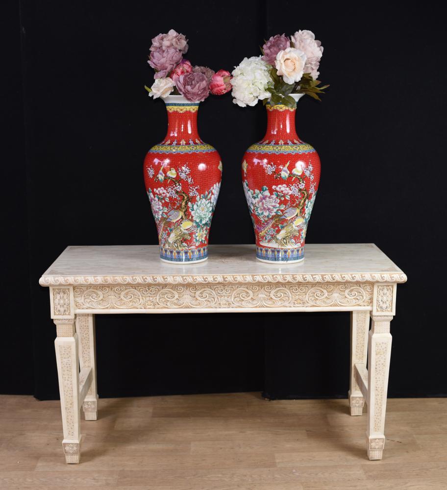 Chinese Bone Hall Hand Tisch geschnitzte Knochen Console Tabellen