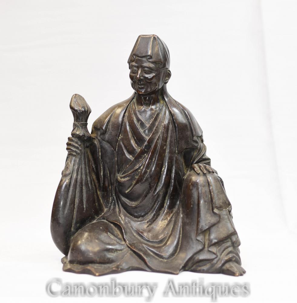 Chinesische Bronze Buddha Wise Man Statue buddhistische Kunst