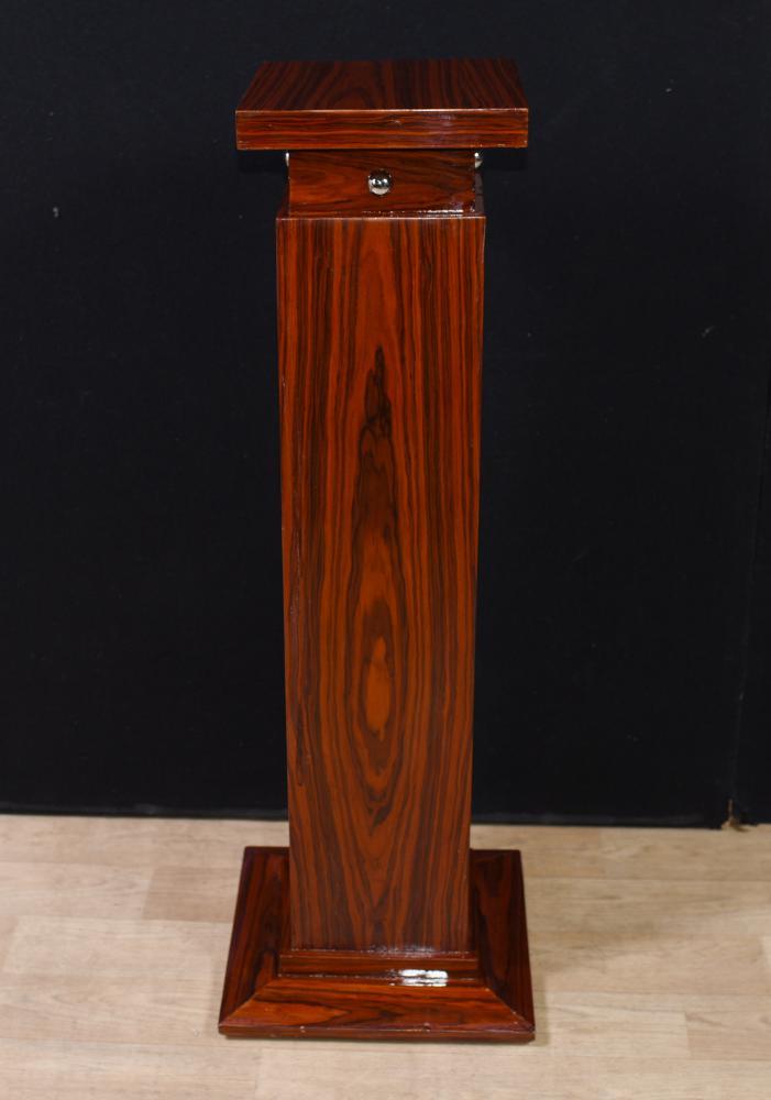 Einzelner Art Deco Palisander Säulenständer Tisch