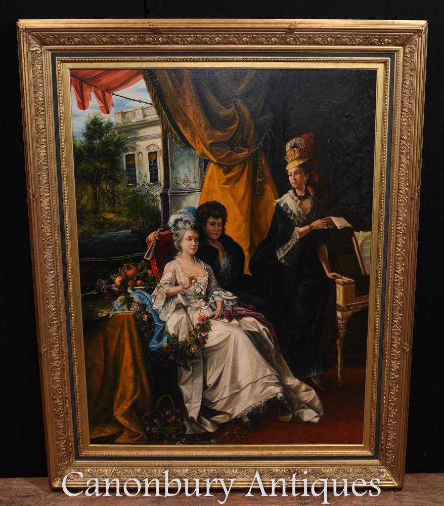 Großes französisches Pariser Gentry-Ölgemälde-Porträt Louis XVI