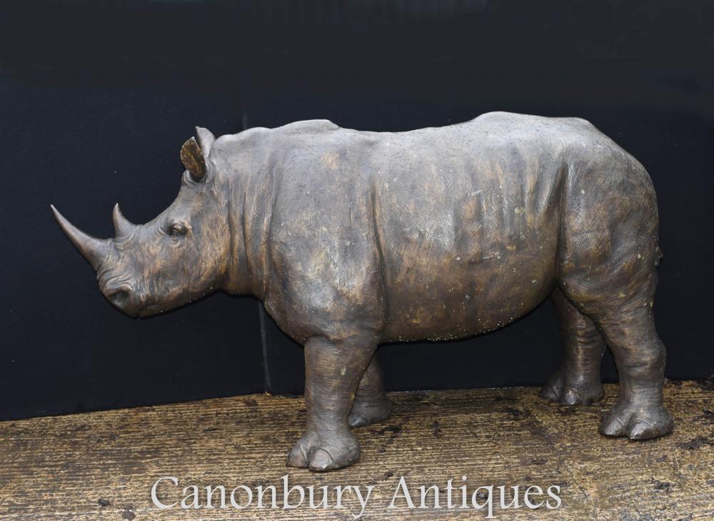 Riesige Rhino Rhino Rhinocerous Architektur Garten Tier Statue