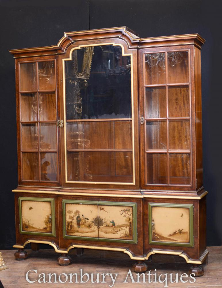 Antike Gillows Painted Vitrine Bücherregal Circa 1890