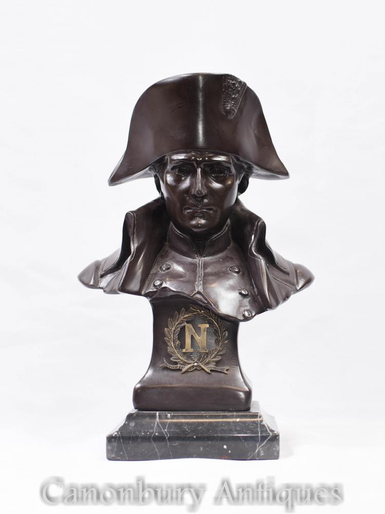 Bronze Büste Kaiser Napoleon I Französisch Antique Statue