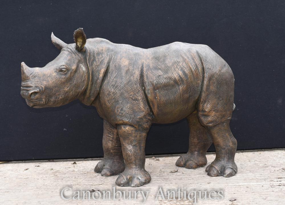 Bronze Rhino Statue afrikanischen Rhinocerus Casting