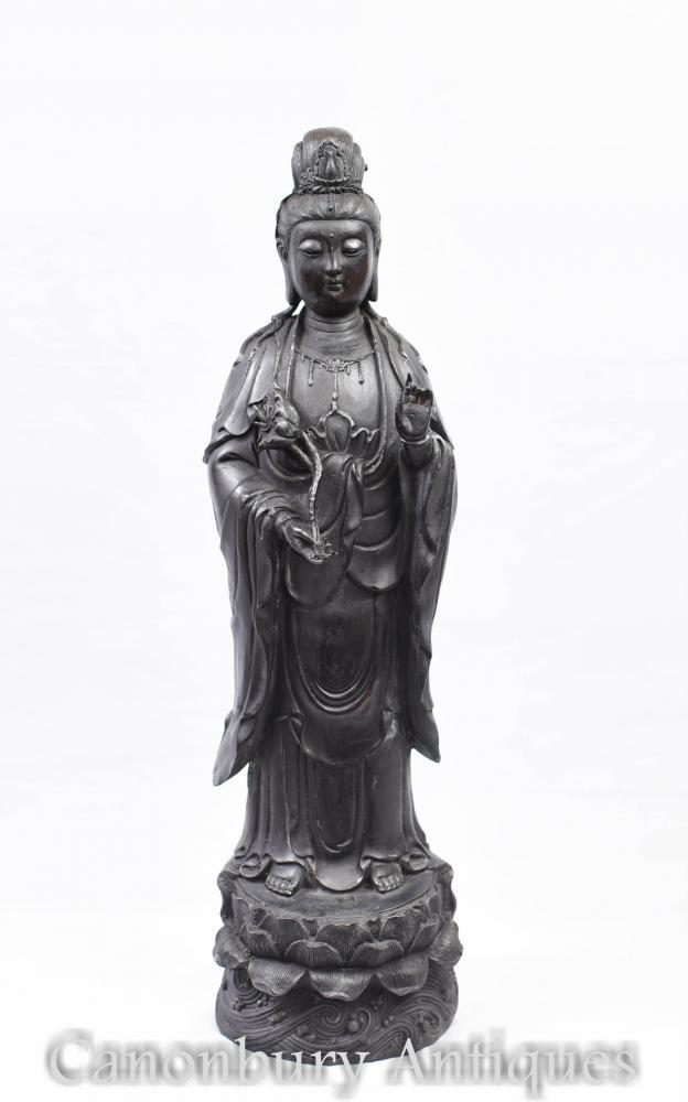 Bronze nepalesische Buddha Statue - buddhistische Figur Buddhismus Kunst