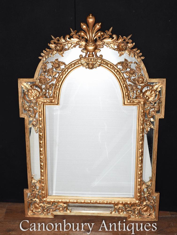 Chippendale Gilt Pier Spiegelglas Spiegel