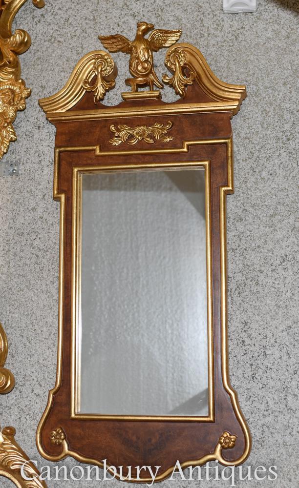 Empire Pier Spiegel Feder Eagle vergoldete Rahmen