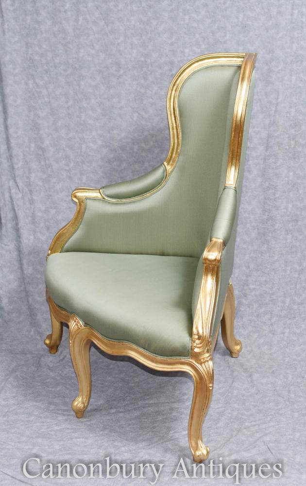 Französischer Empire Gilt Corner Chair
