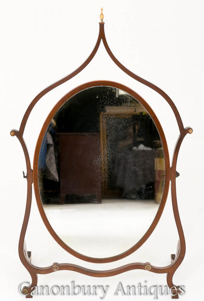 Hepplewhite Horse Spiegel Mahagoni 1890