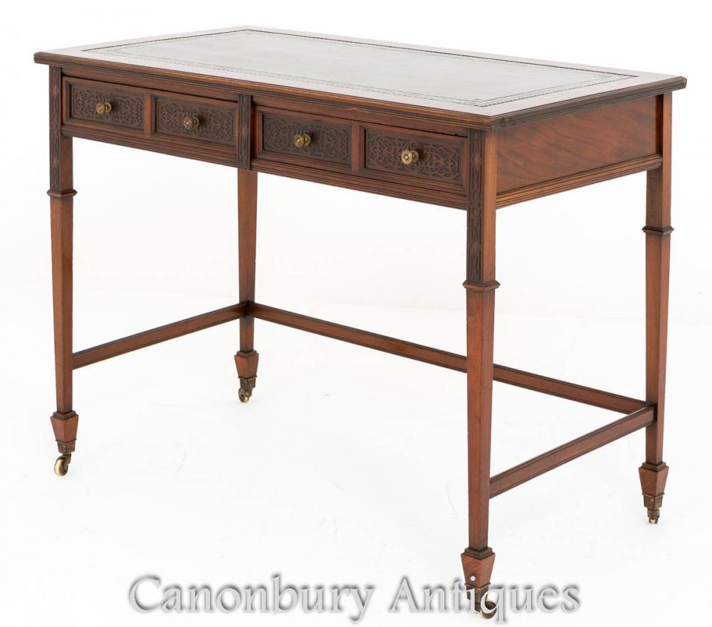 Mahagoni Chippendale Schreibtisch Schreibtisch 1890