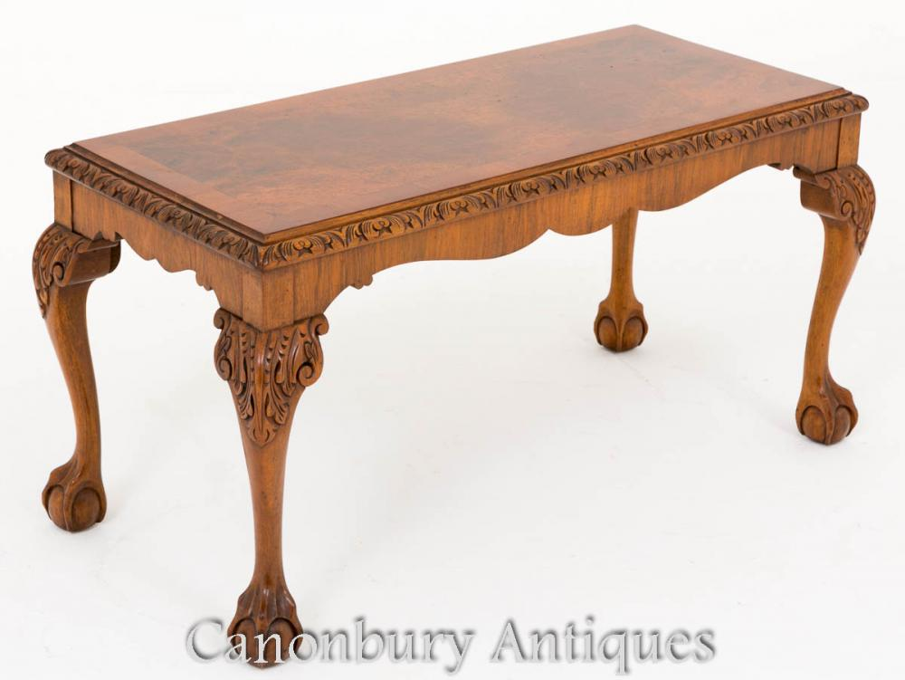 Nussbaum Couchtisch Queen Anne Antiken Tische