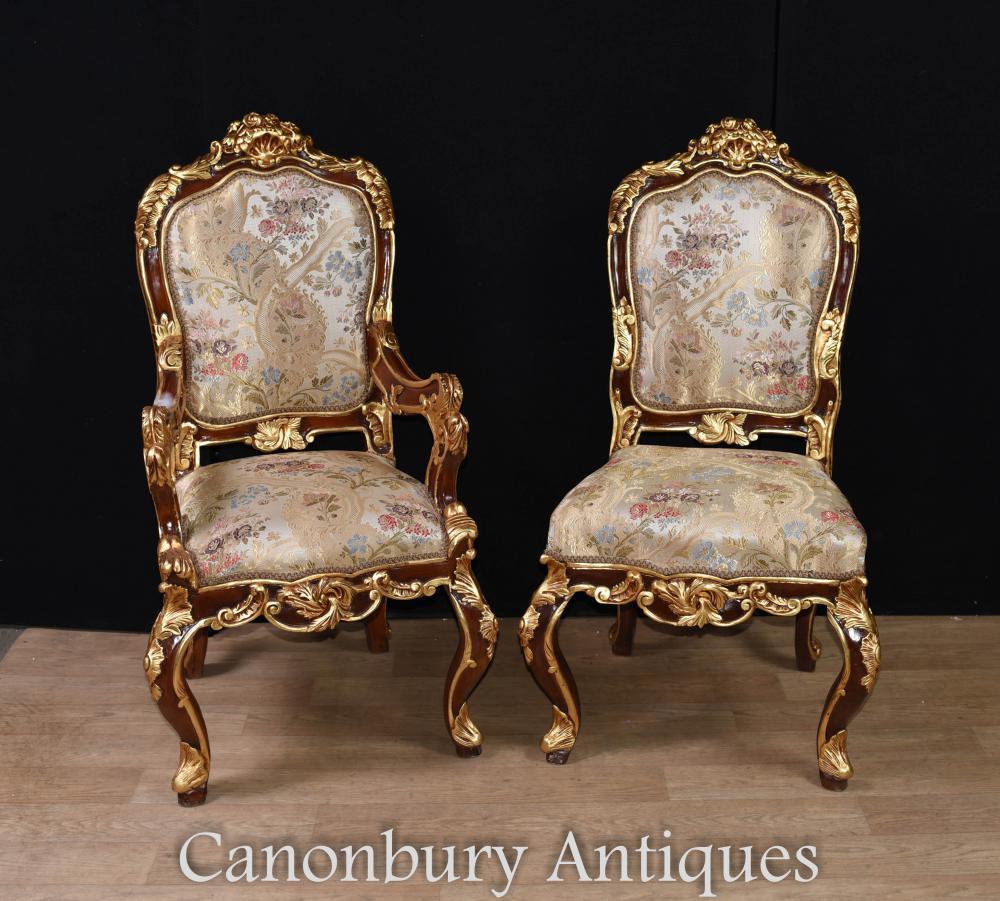 Paar Louis XVI Stühle - Arm und Stuhl Akzent Stücke