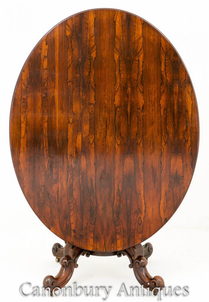 Palisander Antik Frühstück Tisch - Flip Top Beistelltische 1860