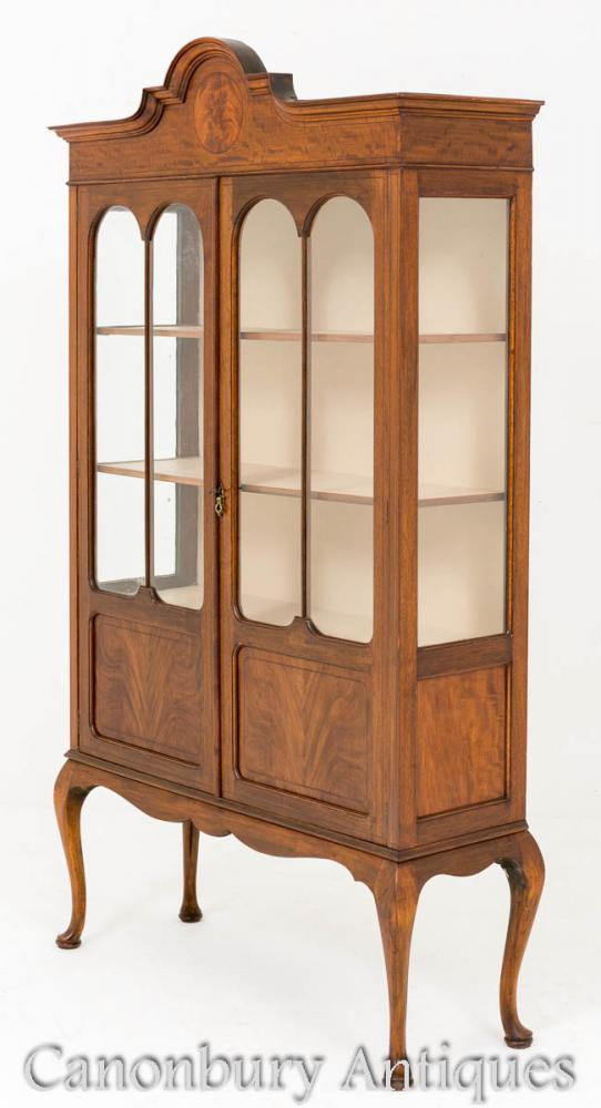 Regency Mahagoni Cabinet Antikes Bücherregal