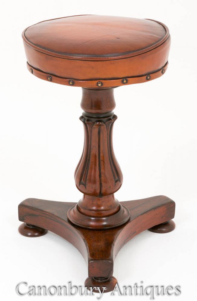 Rosewood Piano Stool William IV Antique Stools
