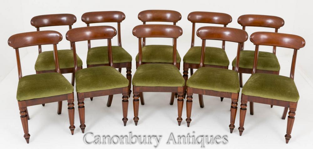 Set Mahagoni Esszimmerstühle Victorian Set 10