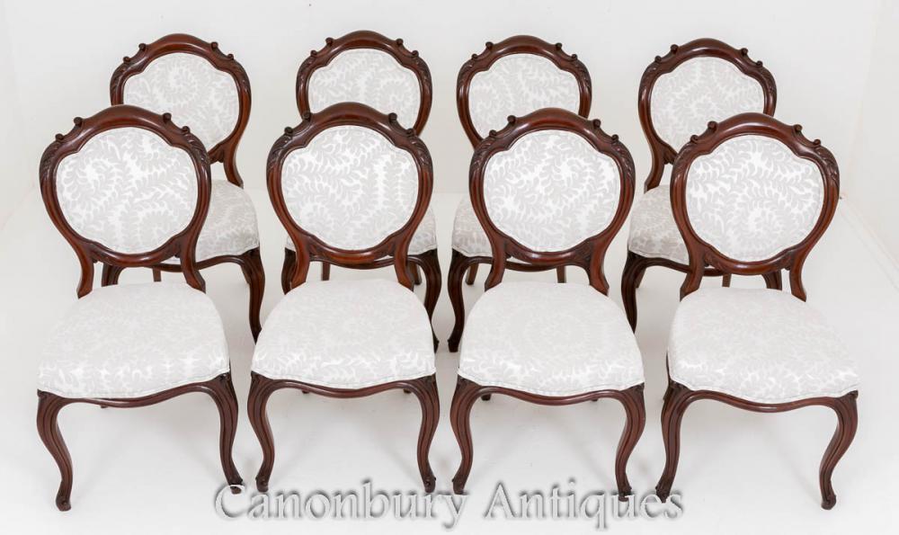 Set viktorianischen Esszimmerstühle - Mahagoni 8 Stuhl 1860