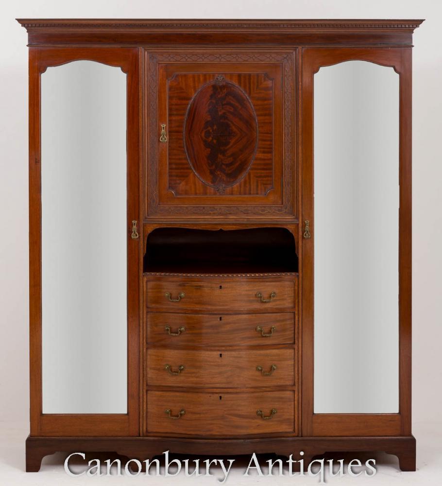 Victorian Compactum Kleiderschrank Ahorn und Co Schrank 1880v