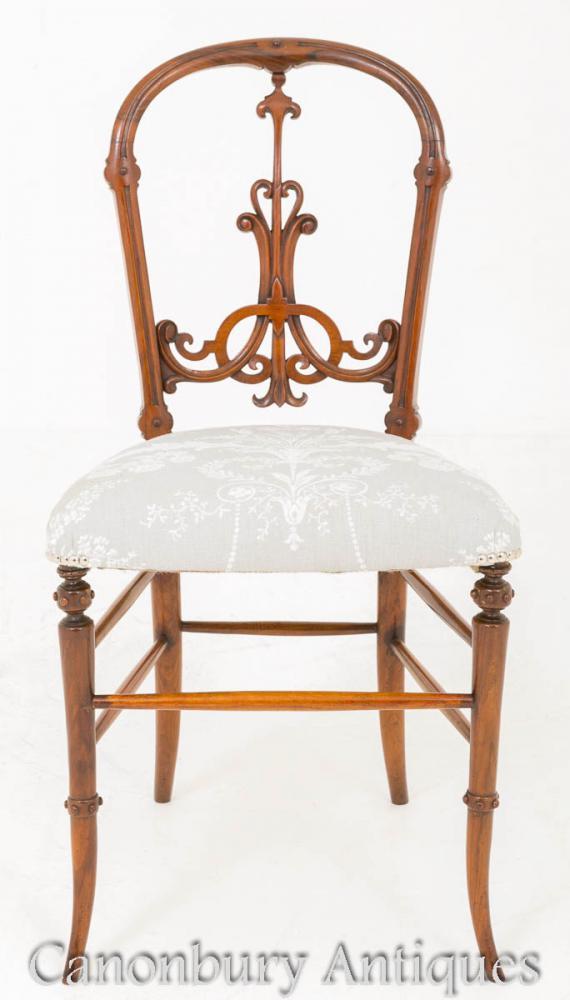 Viktorianische Walnuss Stuhl 1860 Antike Stühle