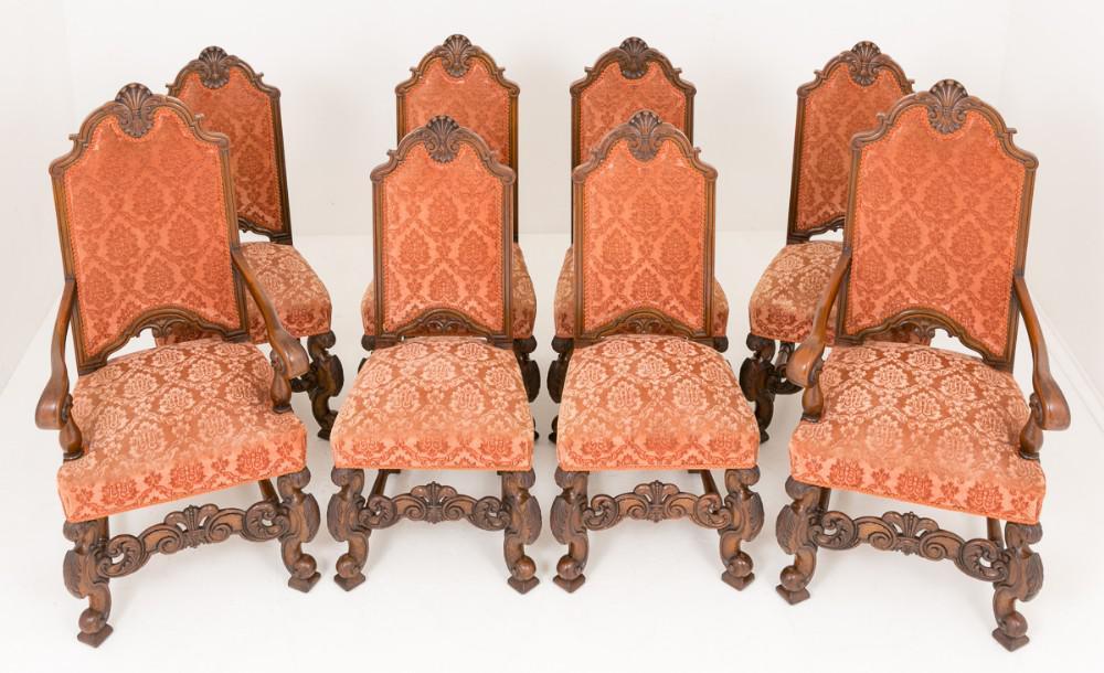 8 Carolean viktorianischen Restaurants Stühle um 1870
