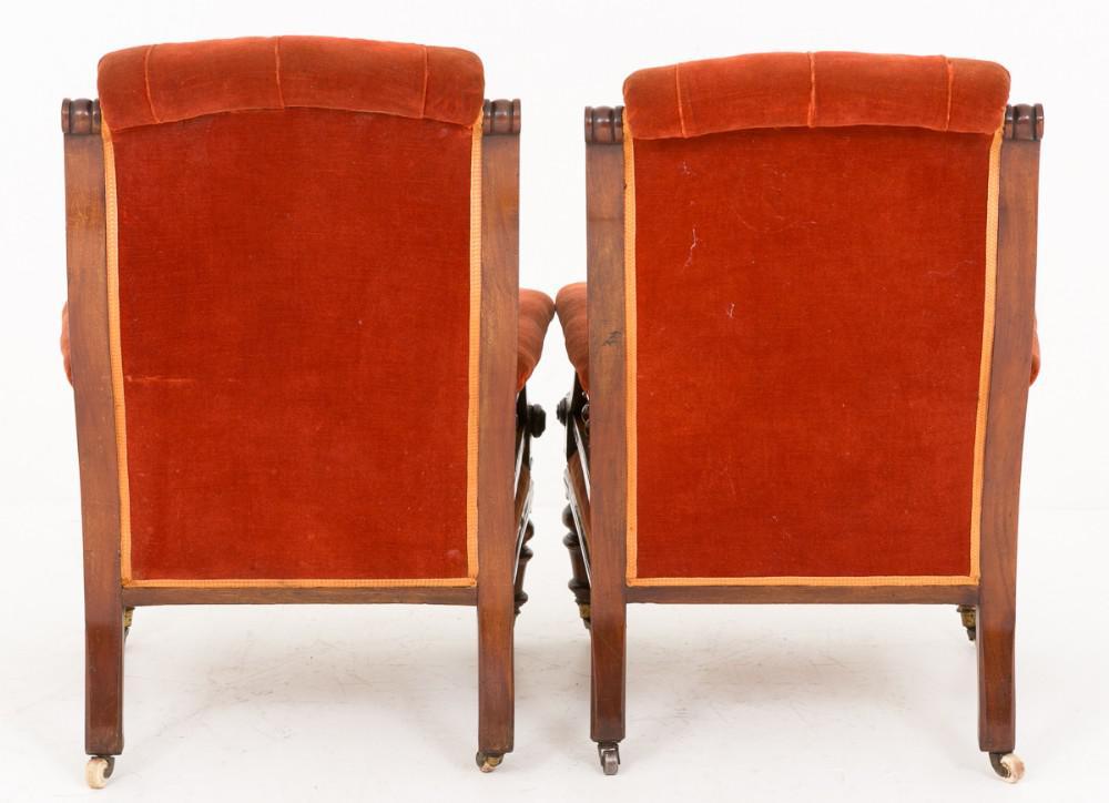 Pair Victorian Sessel Sitze um 1860
