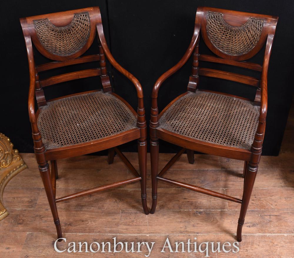 Set Mahagoni Barhocker viktorianischen Stühlen Sitzgelegenheiten