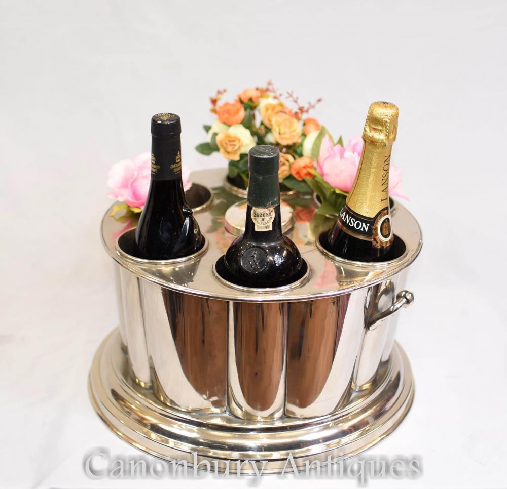 Sheffield Silver Plate Wein und Champagner Kühler Eimer