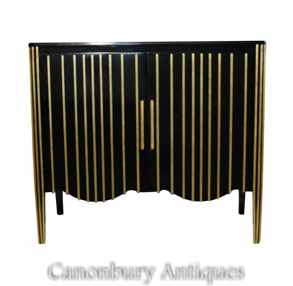 Art Deco Ebonisierte Kabinett-Kommode-modernistische Möbel