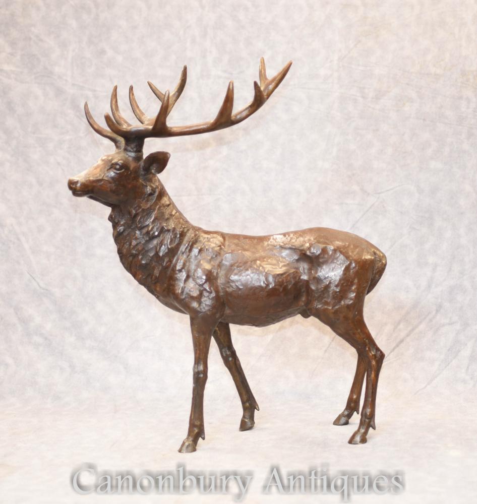 Bronze Scottish Stag Statue Casting - Elch Hirsch Figur