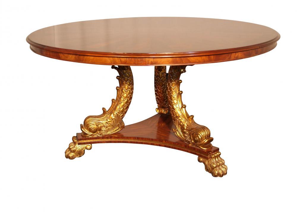 Regentschafts-Mitte-Tabelle vergoldete Schlangen-Bein-speisende Möbel