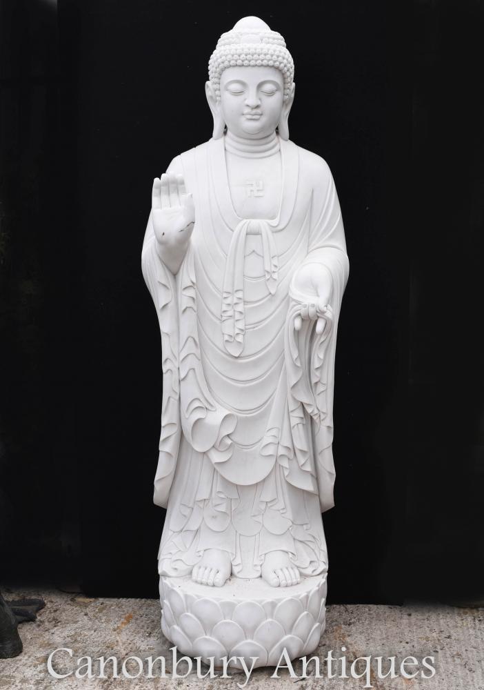 Riesige Marmor tibetische Buddha Statue - 210 CM buddhistische Kunst