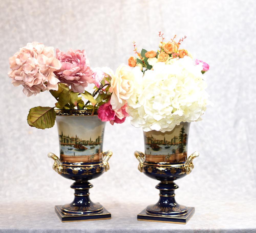 Deutsche Meissen Porzellan Campana Urnen Vasen