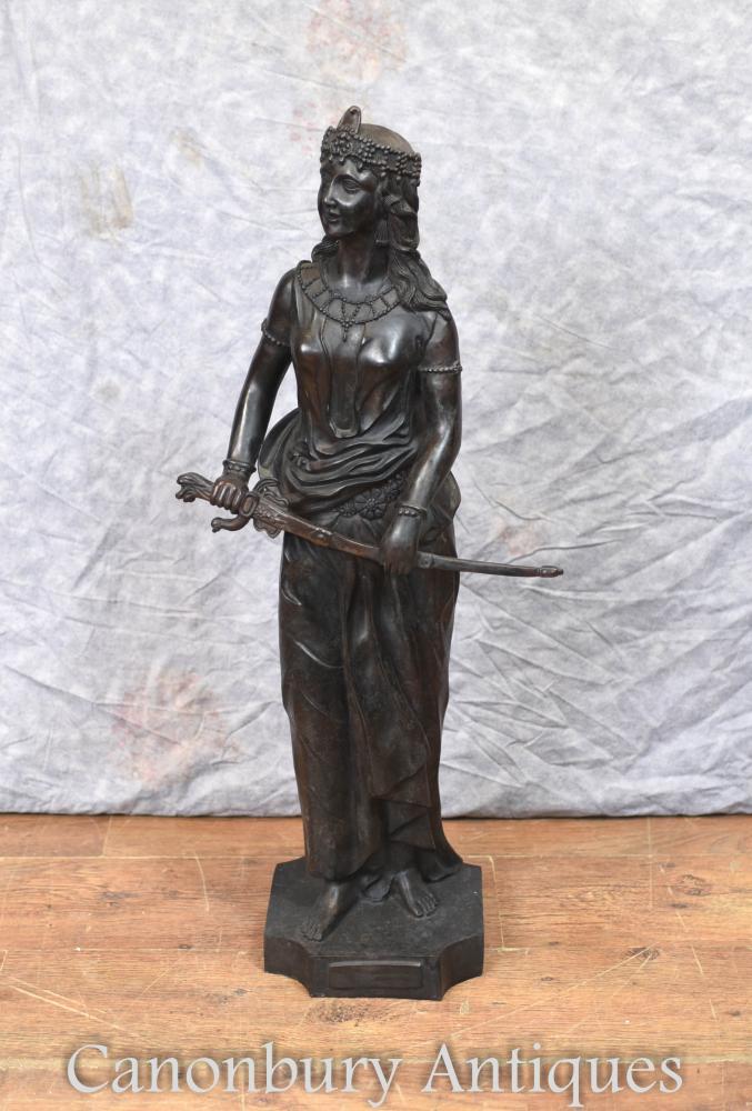 Große Bronzedame von Salome Statue Figur Casting