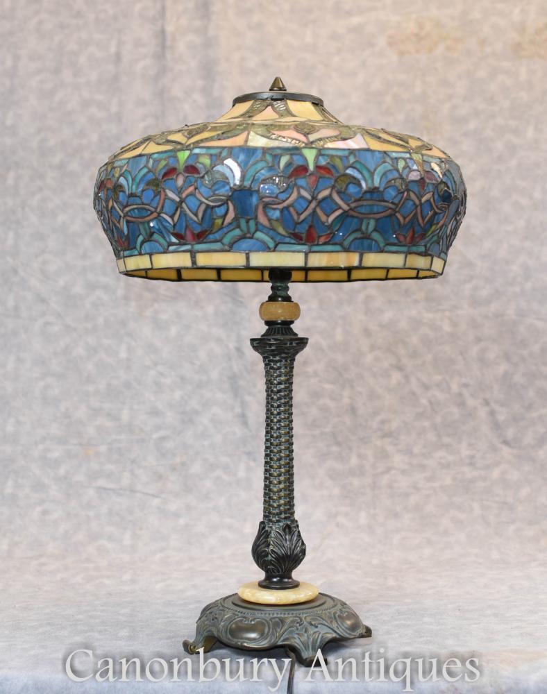 Jugendstil Tiffany Shade Tischleuchte Licht