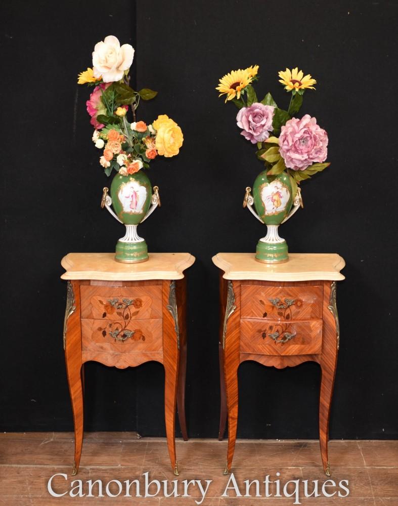 Sevres Porzellan Urnen - Floral Maiden Vasen