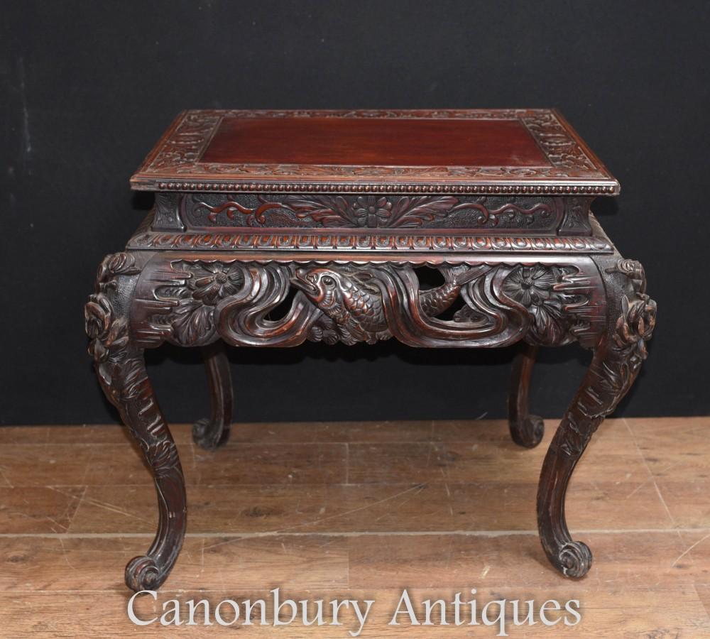 Antiker Birmanischer Beistelltisch - Myanmar Birma Möbel