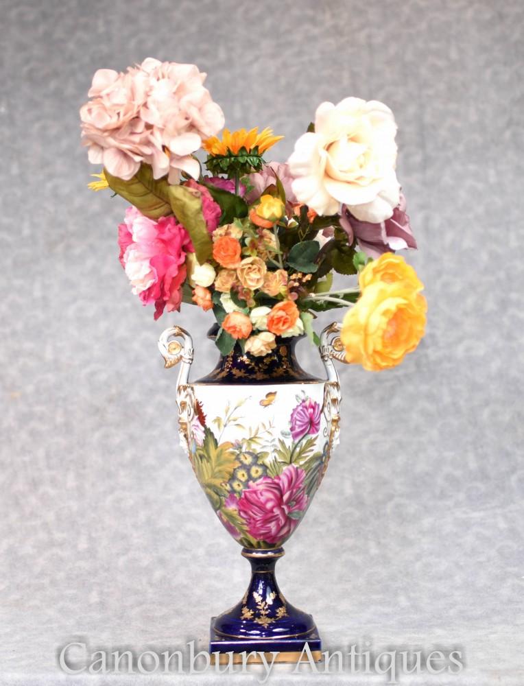 Deutsche Porzellanvasen - Dresdner Keramik Tropische Blumenurne