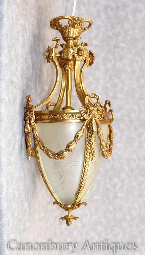 Empire Gilt Light - Französische Ormolu-Kronleuchterlaterne