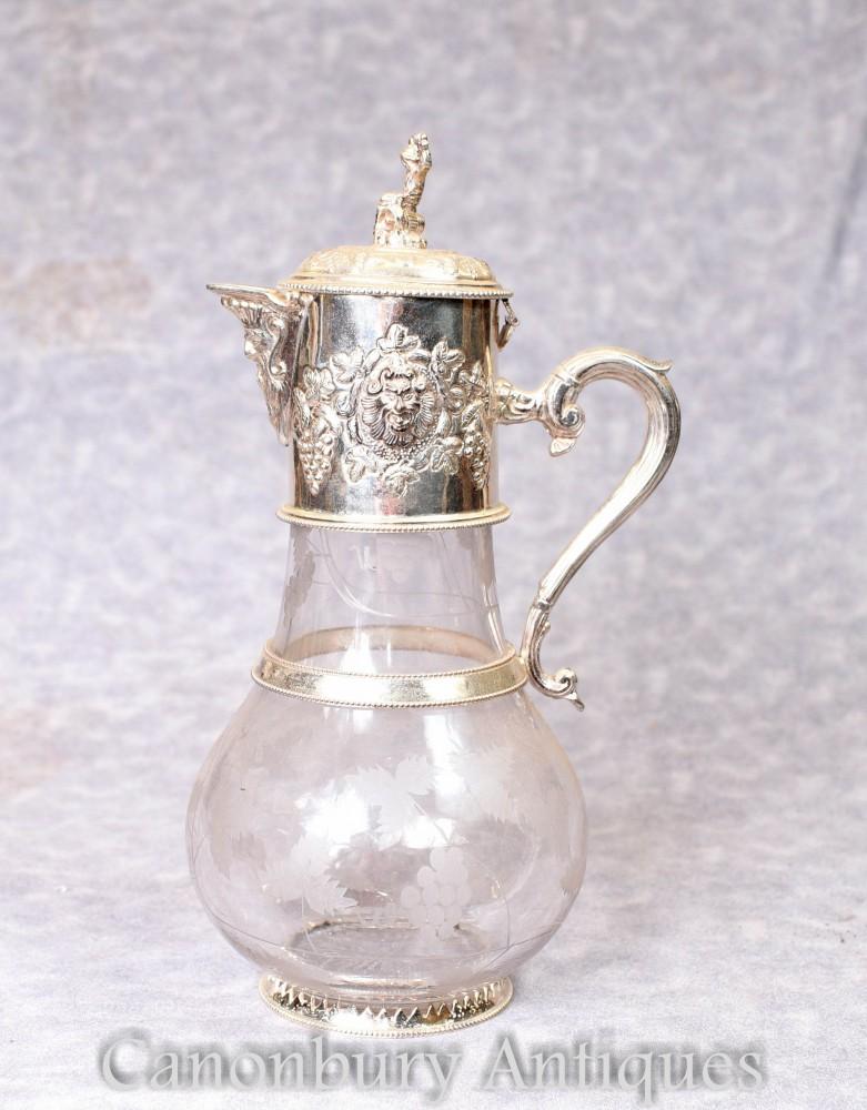 Glaskanne aus Silberglas - Viktorianische Dekante