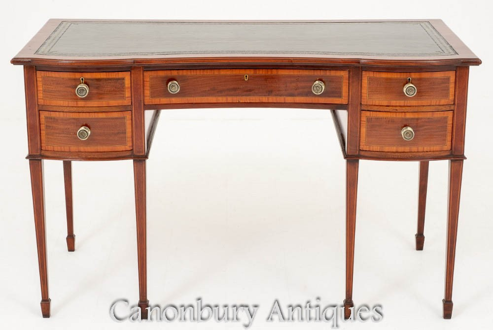 Antiker Gillows Schreibtisch - gestempelter Mahagoni-Schreibtisch