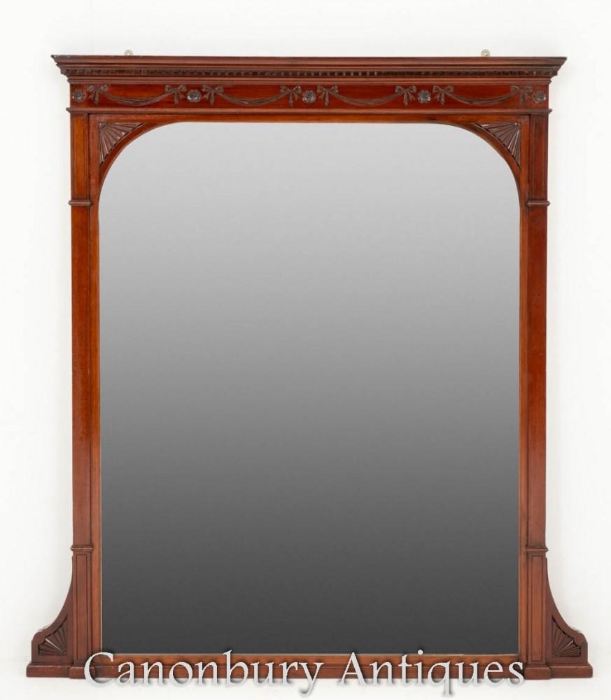 Antiker viktorianischer Overmantle Spiegel um 1880