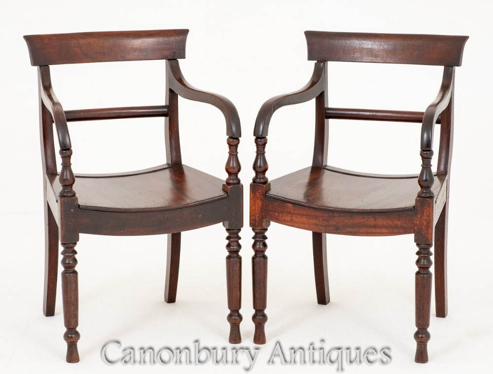 Paar antike viktorianische Sessel